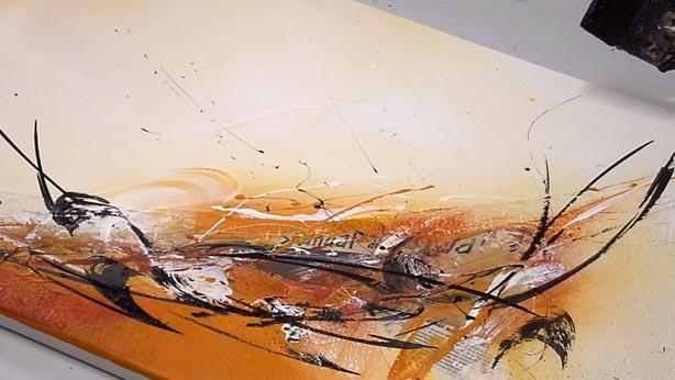 Online kunstschule f r abstrakte malerei malen lernen - Collagen selber machen ...